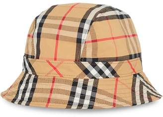c9dc61c42f9 Burberry beige Vintage Check Cotton Bucket Hat