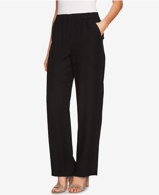 CeCe Pleated Wide-Leg Pants