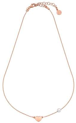 Majorica Simulated Pearl & Heart Necklace, 15""