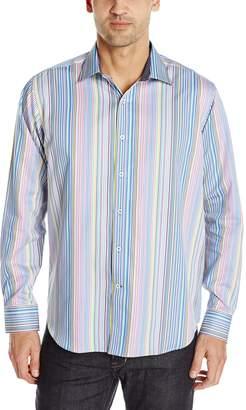Bugatchi Men's Sicuro Long Sleeve Shaped Button Down Shirt