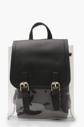 boohoo Perspex Inner Bag Rucksack
