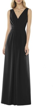Women's Social Bridesmaids V-Neck Georgette Gown $176 thestylecure.com