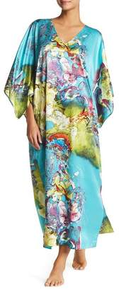 Natori Printed Caftan Dress $180 thestylecure.com