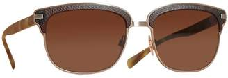 Burberry Eyewear Textured Front Square Frame Sunglasses
