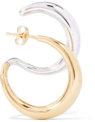 Charlotte Chesnais Gold Vermeil And Silver Earring