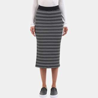 ATM Anthony Thomas Melillo Engineered Striped Rib Skirt