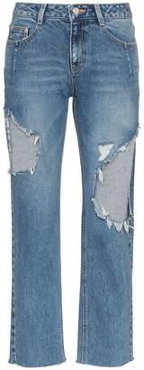 Sjyp straight leg ripped jeans
