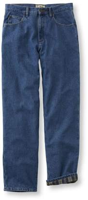 L.L. Bean L.L.Bean Double L Jeans, Flannel-Lined Relaxed Fit