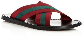 Bloomingdale's The Men's Store at Men's Striped Slide Sandals - 100% Exclusive