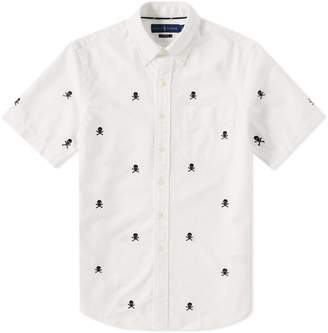 Polo Ralph Lauren Short Sleeve Skull & Crossbones Embroidered Shirt