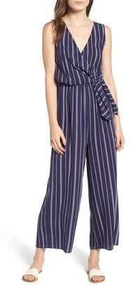 Soprano Stripe Side Tie Jumpsuit