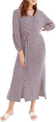 J.Crew Universal Standard for Bubble Sleeve Jersey Maxi Dress