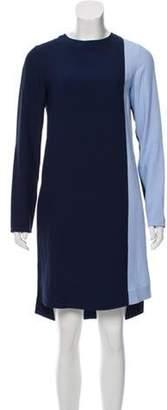 Akris Punto Colorblock Shift Dress Blue Colorblock Shift Dress