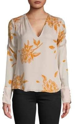 Joie Long-Sleeve Floral Blouse