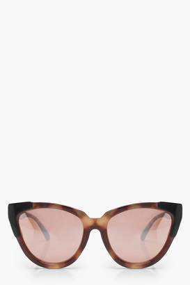 boohoo Oversize Tortoiseshell Cat Eye Sunglasses
