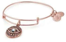 Alex and Ani Holiday Evil Eye Crystal Charm Bangle Bracelet