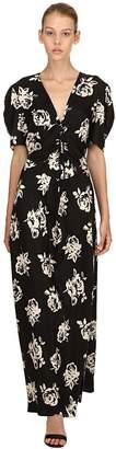Miu Miu Printed Silk Jacquard Dress