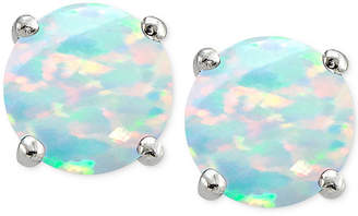 Giani Bernini Cubic Zirconia Iridescent Stone Stud Earrings in Sterling Silver, Created for Macy's