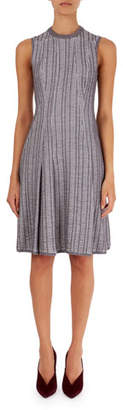 Victoria Beckham Textured Plaid Flippy Dress