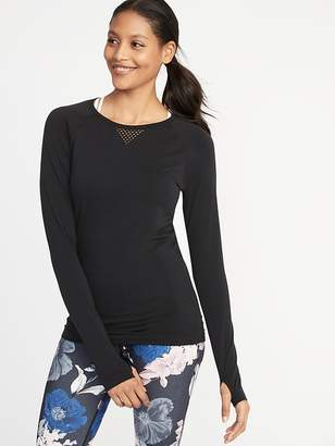 Old Navy Mesh-Trim Performance Top for Women