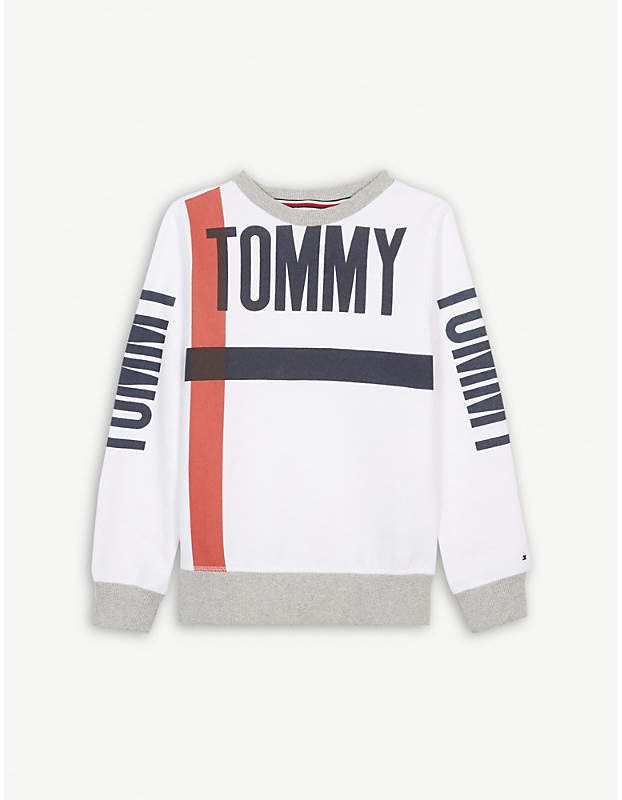 Striped cotton sweatshirt 4-16 years