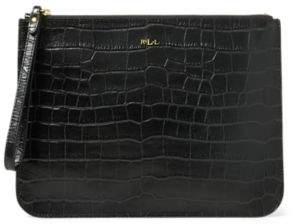 Ralph Lauren Embossed Newbury Pouch Black One Size