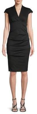 Nicole Miller Cap-Sleeve Sheath Dress