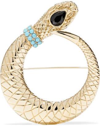 Etro Gold-tone Crystal Brooch