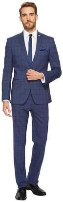 Nick Graham Blue Window Suit Men's Suits Sets