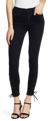 Black Orchid Lara Lace Down Skinny Jeans