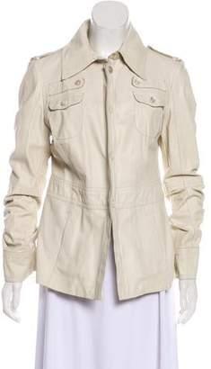 CNC Costume National Leather Utility Jacket