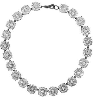 Bottega Veneta - Oxidized Sterling Silver Cubic Zirconia Necklace $2,200 thestylecure.com