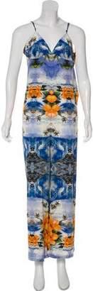 Stella McCartney Silk Beach Print Jumpsuit