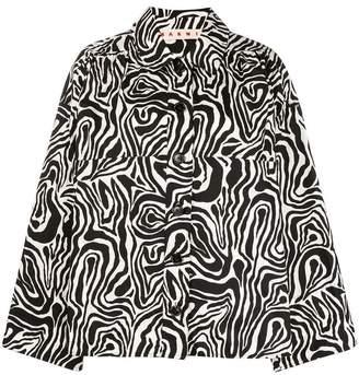 Marni oversize printed shirt