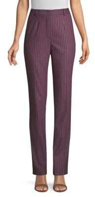 Escada Turanuta Metallic Pinstripe Pants