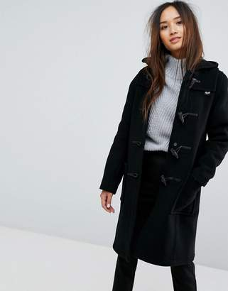 Gloverall Long Slim Wool Blend Duffle Coat