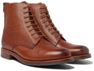 Grenson Murphy Burnished Textured-Leather Boots