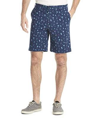 Izod Men's Saltwater Stretch Tropical Print Shorts Pants