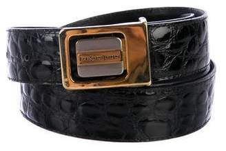 Saint Laurent Embossed Leather Belt