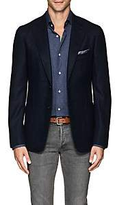 Isaia Men's Cortina Wool-Blend Hopsack Two-Button Sportcoat - Navy