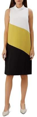 Hobbs London Cecile Sleeveless Color-Block Shift Dress