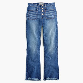 """J.Crew Point Sur 10"""" high-rise demi-boot jean with buttonfly"""