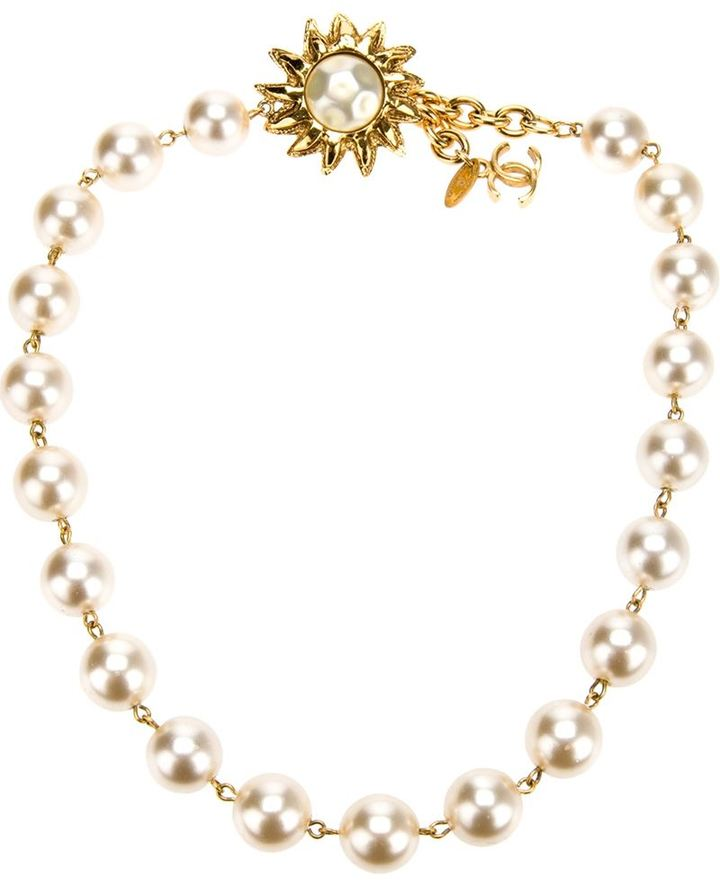 Chanel pearl beaded necklace