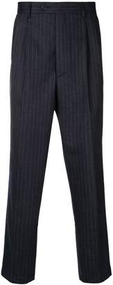 Lc23 pinstriped tapered trousers
