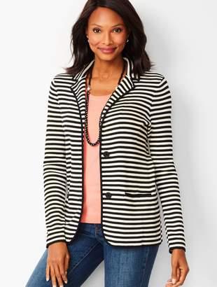 Talbots Stripe Sweater Blazer