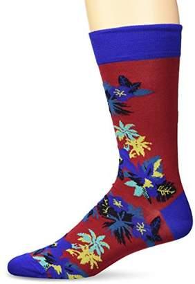 Bugatchi Men's Fashion Mercerized Cotton Floral Printed Sock