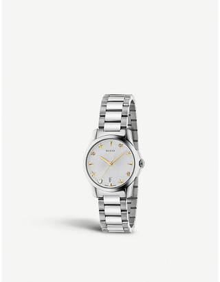 Gucci YA126572 G-Timeless stainless steel watch
