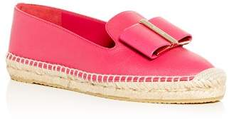 Salvatore Ferragamo Women's Sannio Smoking Slipper Espadrille Flats