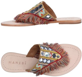 Manebi Toe strap sandals