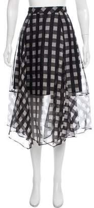 Marissa Webb Silk Plaid Skirt